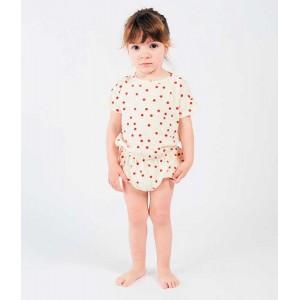 Camiseta cruzada m.larga, algodón Pima, CLC_bl. Petit Oh!